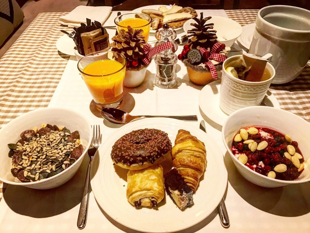 Schlosshotel's fantastic breakfast is the best way to start your day under the Matterhorn