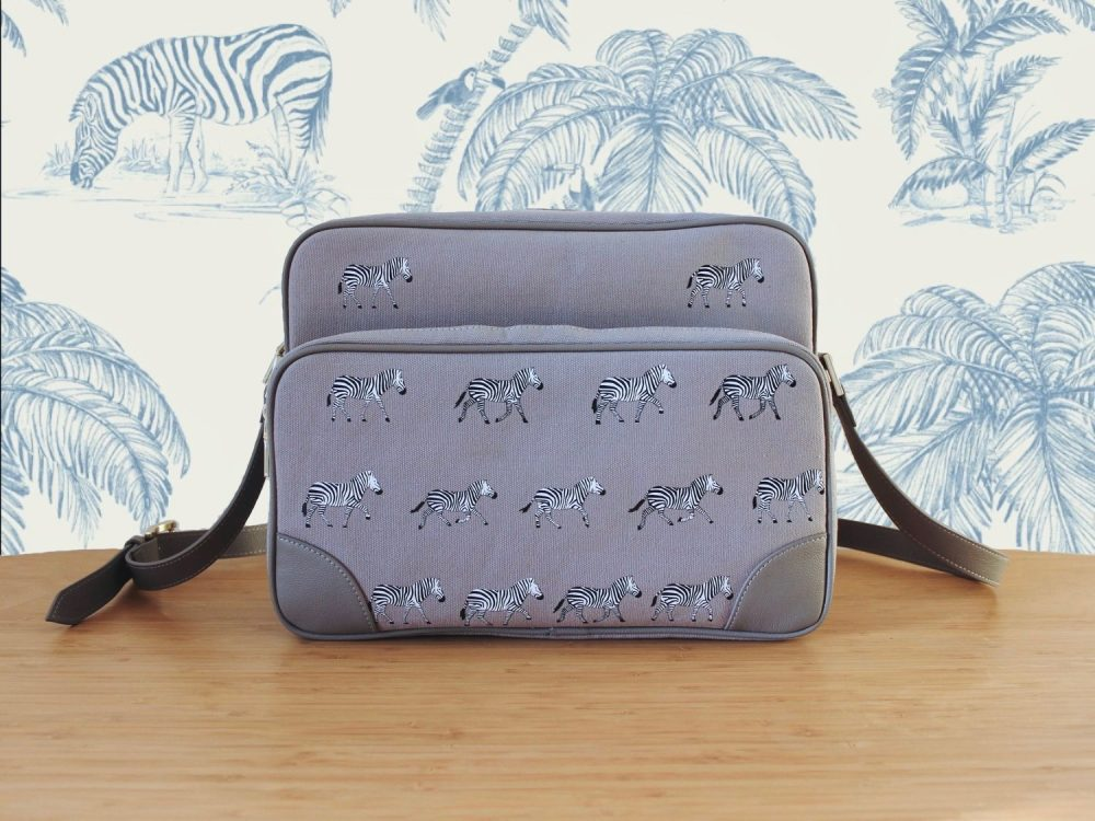 Zebra Messenger Bag (6 of 9) Z Back 2