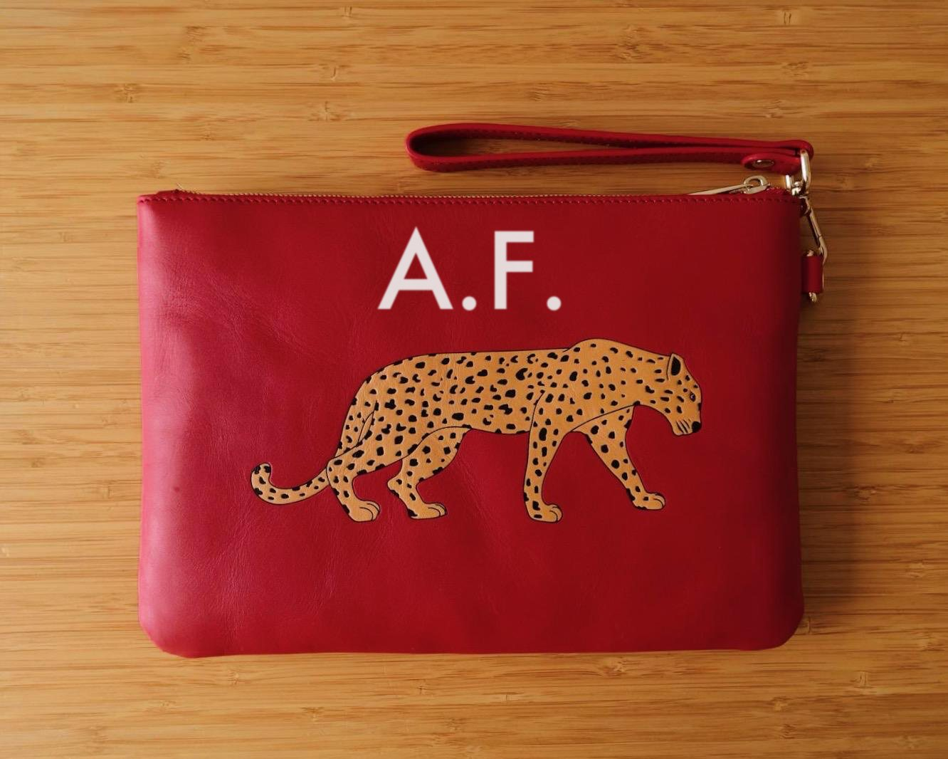 Red Leopard Clutch Bag 1