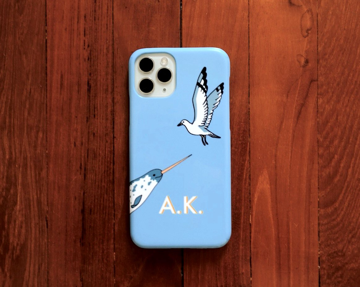 Narwal & Seagull iPhone Case